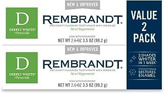 Rembrandt 深白色 + 过氧化*牙膏,薄荷味,3.5 盎司 2组