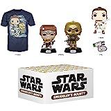 Funko Star Wars Smuggler 的赏金订阅盒,Kijimi 冒险,2019 年 12 月,中号 T 恤…