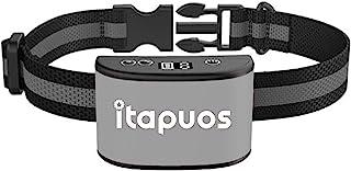 iTAPUOS 狗吠项圈,*版可充电防吠训练项圈,带振动和蜂鸣模式,无震动,狗狗吠叫威慑装置,香茅狗项圈……(灰色)