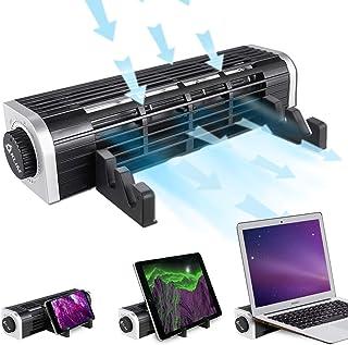 KLIMTM Zephyr + 笔记本电脑冷却器三重功能小而强大的口袋风扇 + 2020 新款 + 静音 & 高性能 + 优雅设计 + 创新交叉流量涡轮冷却 3000 RPM
