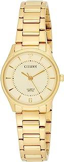 Citizen 西铁城 女士指针式石英手表不锈钢表链 ER0203-85P