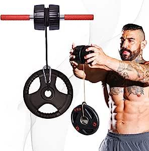 DMoose 健身手腕锻炼器,前臂冲击器和力量训练器,手握泡沫滚轮家庭健身房设备,防滑手柄,方便运动员使用