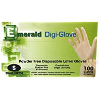 一次性手套手丁腈乙烯手套,不含乳胶、无*、无粉末、非*、**、食品处理、保护保护 100 只(小号)