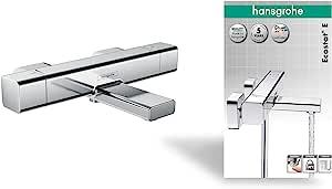 Hansgrohe 汉斯格雅 15774000 Ecostat E 恒温浴缸龙头,镀铬