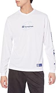 Champion 训练V领长袖T恤 * 防臭 速干 排球 基本款 C3-UV402 男士