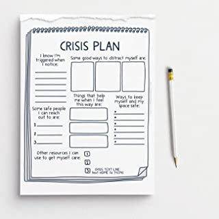 Crisis Plan Fill in The Blank Notebook with Tearaway Worksheets - 50 页 - 8.5 x 11 英寸(约 21.5 x 27.9 厘米) | *师、社会工作者、辅导师、学校心理...