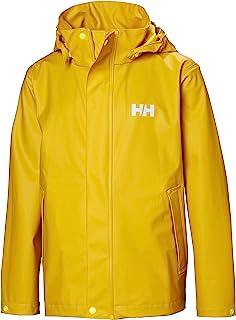 Helly-Hansen 青少年和儿童青少年苔藓雨衣夹克,带全雨保护