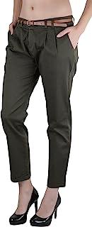 ToBeInStyle 女士纯色针织裤腰带