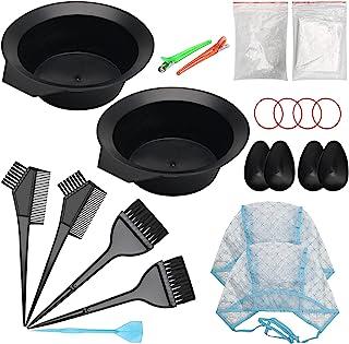 Ahier 23 件装*碗和刷套装,*剂套件包括亮发帽套装,*碗,耳罩,手套,披肩,淋浴帽,适用于 DIY 沙龙*工具