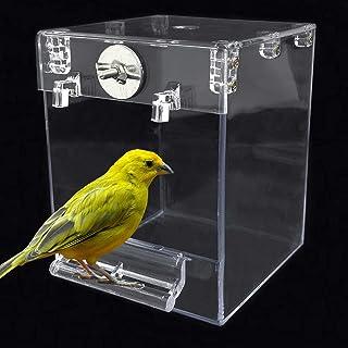 kathson 鸟形浴缸笼,鹦鹉悬挂浴管淋浴盒碗笼配件宠物鸟