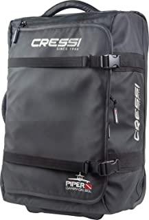 Cressi 潜水装备 便携包 [ PIPER ] 容量50升 轻量 带搬运把手 防水加工 黑色 UB952000