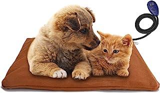 Noverlife 宠物加热垫,电动狗/猫加热垫,柔软宠物加热垫,低电压*可调节加热室内垫适用于宠物小狗猫狗沙发床