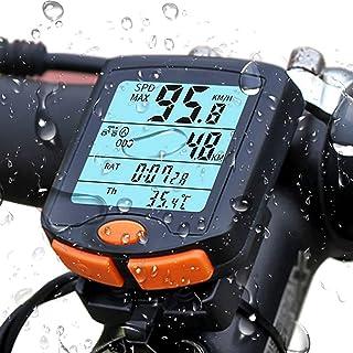 自行车速度计 - Beauty Life 自行车电脑防水 LCD 数码自行车里程表自行车配件带背光适用于自行车骑行