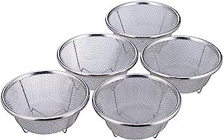 SHIMOMURA KIHAN 下村企販 滤网餐具 5个装 小份装 不锈钢 日本制造 34051