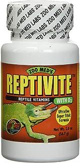 Zoo Med Reptivite Reptivite 爬行动物维生素D3 2 盎司(约 56.7 克) - 12 件装
