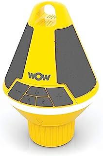 Wow World of Watersports Wow-Sound 音箱,蓝牙,防水,防震,浮动扬声器,电池寿命长,LED 灯和杯架