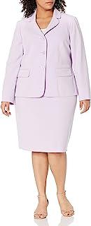 Le Suit 女式 3 粒扣缺口领修身裙装