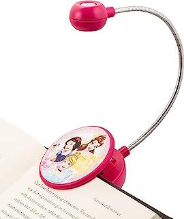 WITHit Disney 夹式书灯 �C Forever Princess �C LED 阅读灯带夹子,适用于书籍/电子书,可调光,减少眩光,儿童便携轻便书签灯,适合儿童,含电池