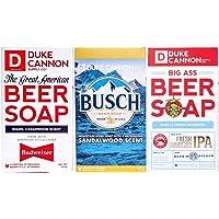 Duke Cannon Supply Co. 男士大啤酒皂,3 块装,10 盎司(约 283.5 克),带 Busch…
