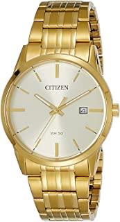 CITIZEN 西铁城 男士指针式石英手表 不锈钢表链 BI5002-57P