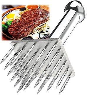 Kitchen Gadgets 重型 28 刀片不锈钢嫩肉器针专业厨房工具,用于厨房烹饪柔嫩牛肉、烧烤、腌制、牛排和家禽(28 个刀片)