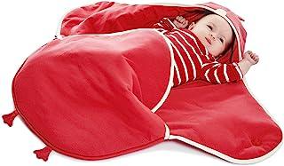 Wallaboo 婴儿毯 可可 超柔软 * 纯棉 多用途 适用于婴儿车或汽车座椅和旅行,新生儿至 10 个月,尺寸:35 x 28 英寸 red chick