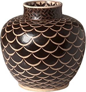 Emissary Home & Garden 棕色花瓶科比设计,35.56 cm 高