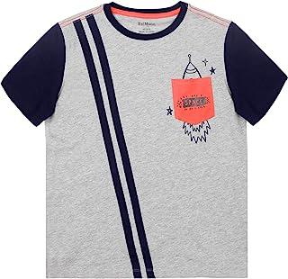 TaiMoon 男孩图案棉 T 恤