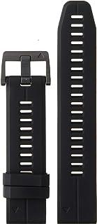 Garmin 010-12740-00 Quickfit 22 手表腕带 - 黑色硅胶 - 适用于 Fenix 5 Plus/Fenix 5 的配件带