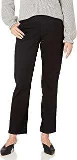 别致经典系列女士易穿松紧腰裤 牛仔黑 8 Average