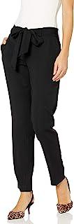 Karl Lagerfeld Paris 女士蝴蝶结腰带长裤