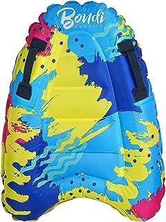 GEZICHTA 充气冲浪板带手柄游泳浮动冲浪板辅助垫迷你泳池浮沙滩冲浪板适合儿童成人游泳初学者