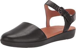Fitflop 女式混合扣 Cara Quarter Strap 闭趾凉鞋