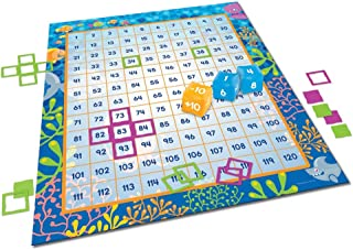 Learning Resources Make a Splash 120块数字地板游戏,加法/减法,136件,适合年龄在6+的人群