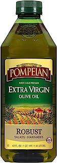 庞培坚固的特级初榨橄榄油,首次冷压,浓郁的味道,非常适合沙拉酱和腌料,天然不含麸质,48 FL。OZ.,单瓶