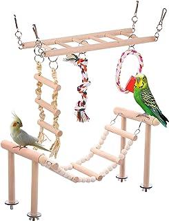 SAWMONG 鸟梯 2 件装,悬挂梯子和爬梯,用于笼子配件