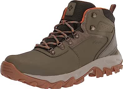 Columbia 男士 Newton Ridge Plus II 防水皮革和麂皮登山靴