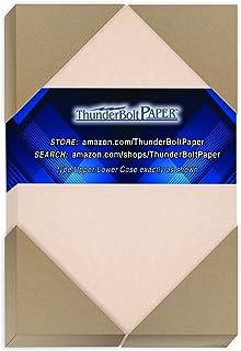 150 个粉色羊皮纸 65 磅封面重量纸 - 10.16 厘米 X 15.24 厘米(10.16 厘米 X 15.24 厘米)照片|卡片|框架尺寸 - 可打印卡片彩色卡片纸 旧羊皮纸