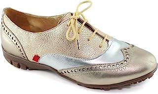 女士真皮巴西制造高尔夫纽约系带时尚鞋