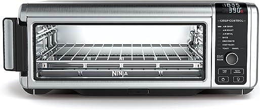 忍者 Foodi 8 合 1 数字、烤面包机、空气炸锅,带翻转式存储多功能柜台对流烤箱 (SP101)、19.7 英寸宽 x 7.5 英寸高 x 15.1 英寸 D、不锈钢/黑色 需配变压器
