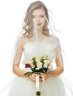 婚礼面纱 118 英寸长大教堂新娘薄纱单层新娘面纱带梳子