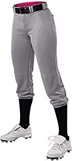 Alleson 运动女孩青少年女孩快投/垒球速度裤 灰色 中