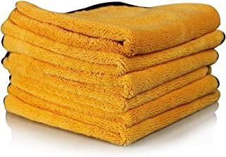 Chemical Guys MIC_507_06 专业级优质超细纤维毛巾,金色(16 x 24英寸,约40.64 厘米 x 60.96 厘米)(6 件装)