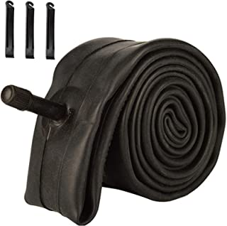 HOUJIN 自行车管,1.90 / 1.95 / 2.10 / 2.125 内管替换件 适用于 32 毫米 Schrader 阀门 MTB 自行车内管 耐用丁基橡胶自行车轮胎