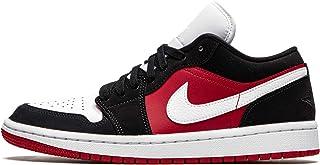 Jordan WMNS Air 1 低帮黑色/白色健身红色女式 Dc0774 016 - 尺码