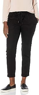 True Religion 女式长款卷边中腰修身慢跑运动裤