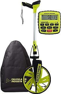 Calculated Industries #6575 DigiRoller Plus III 12.5 英寸估算器电子距离测量轮,带大背光数字显示屏;测量单位为英尺、英寸、米、码;免费携带包