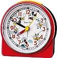 Seiko 精工 台式时钟 红色 主体尺寸:8.9×8.6×4.7厘米 闹钟 米老鼠 模拟 米奇&朋友 FD480R