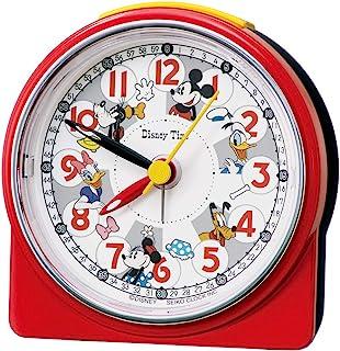 Seiko 精工 座钟 闹钟 红色 尺寸:8.9 x 8.6 x 4.7cm 闹钟 米老鼠 模拟 米奇和朋友 FD480R