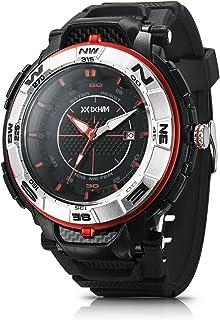 IXHIM 男式运动手表石英 #A2800 模拟时间显示休闲户外手表 - 100 米 330 英尺防水 - 黑色 PU 表带